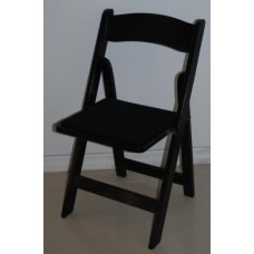 Chair, Black Padded