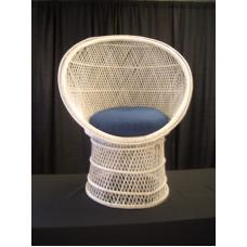 Chair, Wicker Fan - White (Child)
