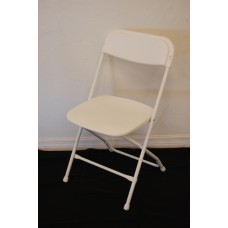 Chair, White Folding