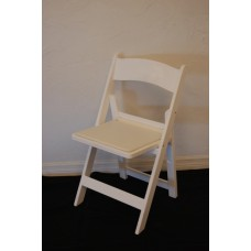 Chair, White Padded