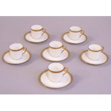 Dish - Ivory Cup and Saucer Demitasse Petite