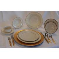Dish - Ivory w/ Gold Trim Saucer