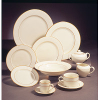 Dish - White w/ Gold Trim Tea Cup