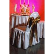 Linen Chair Cover White