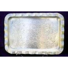 Tray 14' x 18' Silver Rectangle