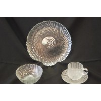 Dish - Clear Swirl B&B Plate