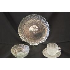 Dish - Clear Swirl Salad Plate