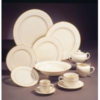 Dish -   White w/ Gold Trim