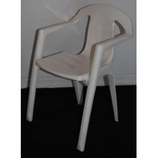Chair, Kids Plastic White